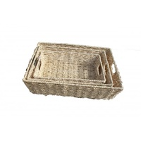 QToys - Seagrass Baskets - Set of 3