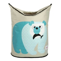 3 Sprouts Laundry Hamper - Blue Polar Bear
