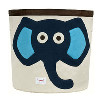 3 Sprouts Storage Bin - Blue Elephant