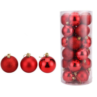 Party & Christmas Decorations - Baubles 5cm Red 24 pieces