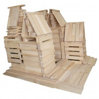 QToys - Wooden Natural Planks 200 pieces