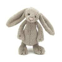 Jellycat Bashful Beige Bunny Small 18cm Plush Super Soft Teddy