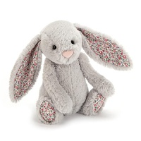 Jellycat Blossom Bashful Silver Bunny Medium 31cm Plush Super Soft Teddy
