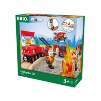 BRIO Set - Firefighter Set, 18 pieces
