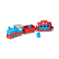 Green Toys Train - Blue & Red 100% Recycled BPA free