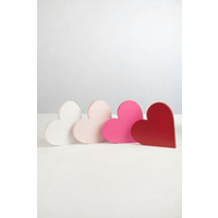Wooden Heart Baby Pink Plain