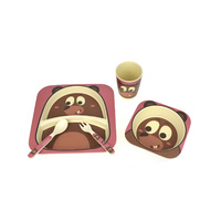 Kaper Kidz - BambooZoo Dinnerware Bear 5 Pieces