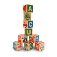 Melissa & Doug ABC-123 Wooden Blocks