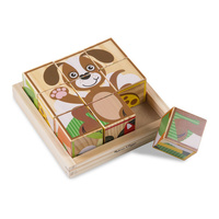 Melissa & Doug My First Wooden Cube Puzzle Animals