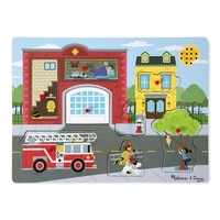 Melissa & Doug Around the Fire Station Sound Puzzle - 8 piece