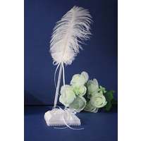 Wedding & Event Pen Set - Feather Pen - Butterfly Themed Design - White
