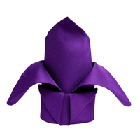 Wedding & Event Linen - Quality Polyester Napkins 42cm - Purple x 10