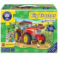 Orchard Toys Big Tractor Shaped Children Vehicle Floor Puzzle