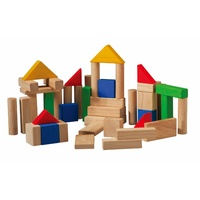 Plan Toys 50 Wooden Blocks