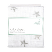 Aden Cot Sheet Dusty Stars Grey by Aden+Anais