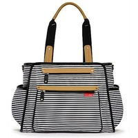 Grand Central Diaper Backpack - Black Stripe