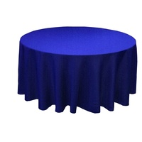 Wedding & Event Linen - 108inch Round Tablecloth - Royal