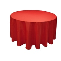 Wedding & Event Linen - 120inch (305cm) Round Tablecloth - Red