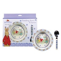 Bunnykins - Feeding Bowl & Spoon - Shining Stars Design - Blue